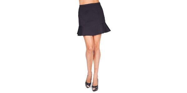 Dámska čierna sukňa s volánikom Sixie