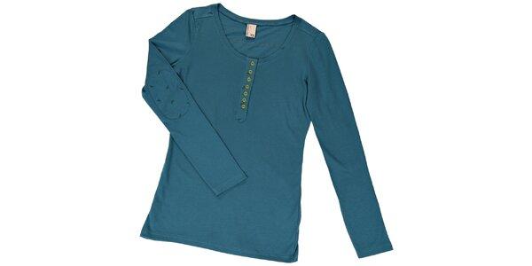 Dámske petrolejovo modré tričko s nášivkami Urban Surface