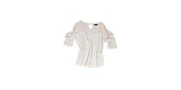 Dámske biele tričko s čipkou Fresh Made