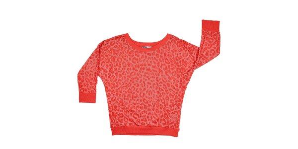 Dámska červená leopardia mikina Urban Surface