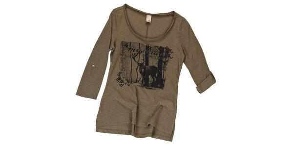 Dámske tričko s jeleňom Urban Surface