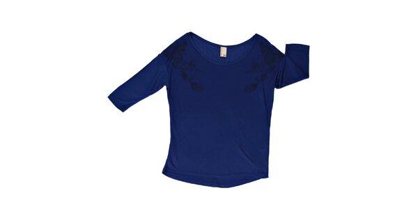 Dámske tmavo modré tričko s okrúhlym výstrihom Urban Surface