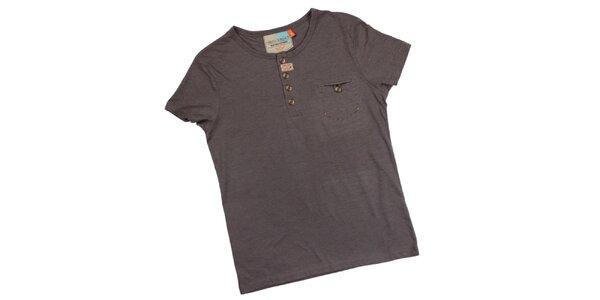 Pánske šedé tričko s náprsným vreckom Urban Surface