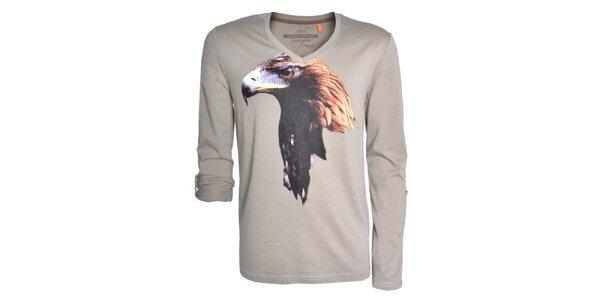 Pánske šedé tričko s orlom Urban Surface