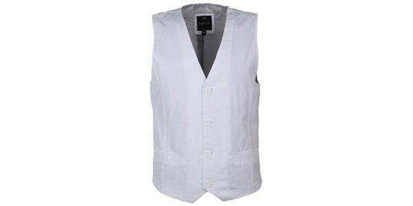 Pánska biela vesta Sublevel
