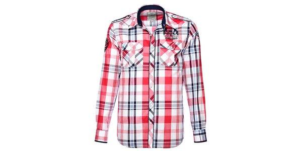 Pánska červeno kockovaná košeľa M. Conte