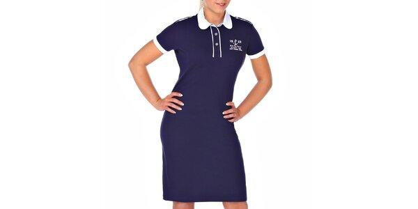 Dámske tmavo modré šaty M. Conte