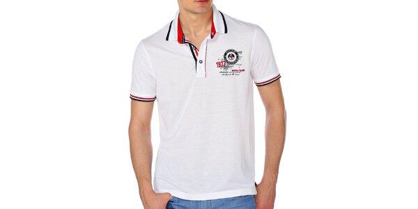 Pánske biele polo tričko M. Conte