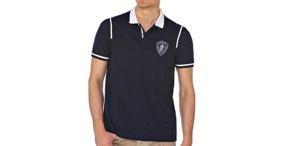 Pánske polo tričko v modrej farbe M. Conte