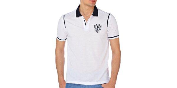 Pánske polo tričko v bielej farbe M. Conte