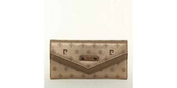 Dámska bronzová peňaženka Pierre Cardin so vzorom