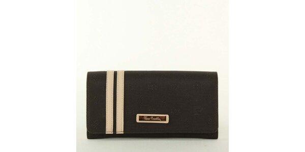 Dámska textilná peňaženka s pruhmi a kovovým plieškom Pierre Cardin