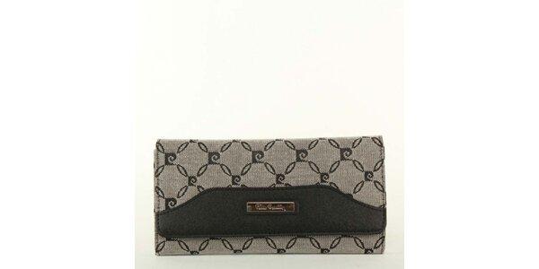 Dámska šedo-čierna textilná peňaženka Pierre Cardin