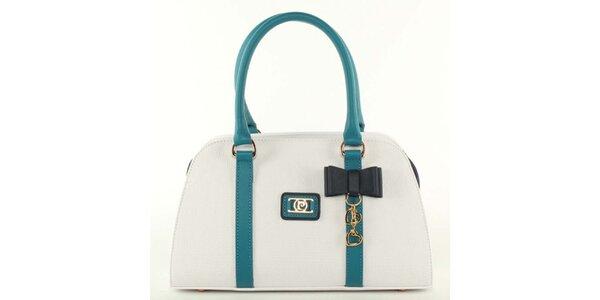 Dámska biela kabelka s mašličkou Pierre Cardin