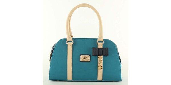 Dámska modrá kabelka s mašličkou Pierre Cardin