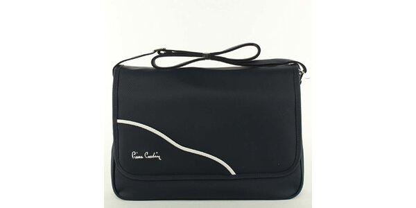 Dámska čierna textilná kabelka cez rameno Pierre Cardin