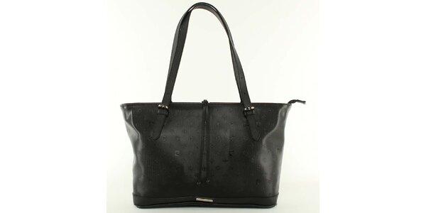 Dámska čierna kabelka s nastaviteľnými pútkami Pierre Cardin