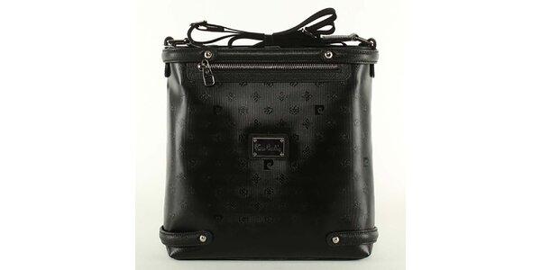Dámska čierna kabelka s ramenným popruhom Pierre Cardin