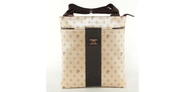 Dámska zlato-hnedá kabelka Pierre Cardin