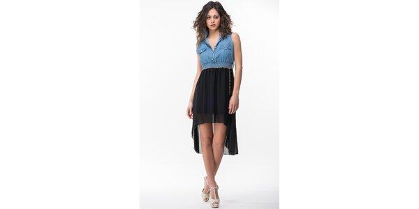 Dámske modro-čierne šaty Sixie