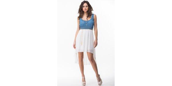 Dámske modro-biele šaty Sixie