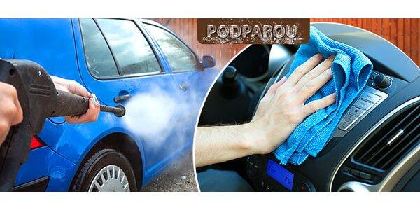 Vyčistenie auta parou u vás doma