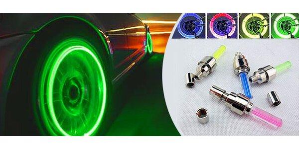LED svietiace ventilky na bicykel či auto