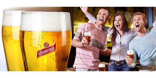 2x veľké pivo Gambrinus v Pube Zbrojnoš