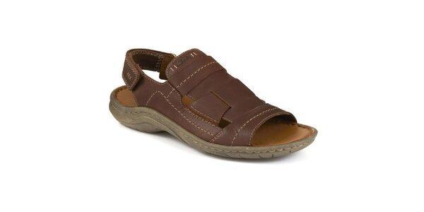 Pánske tmavo hnedé sandále Clarks