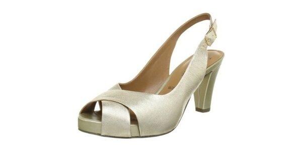Dámske topánky vo farbe šampaň Clarks