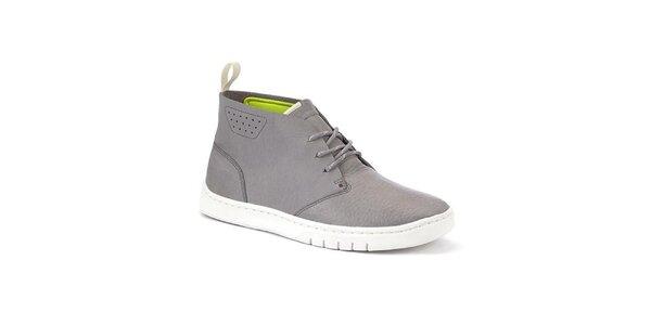 Pánske šedé členkové topánky Clarks