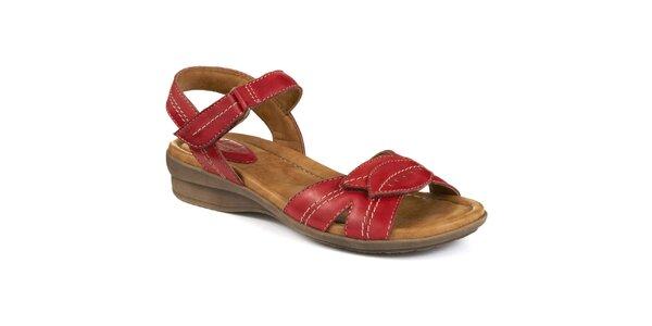 Dámske červené sandále s lístkami Clarks