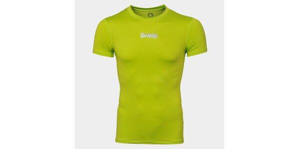 Pánske zelené tričko s nápisom Sweep