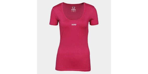 Dámske ružové tričko so značkou Sweep