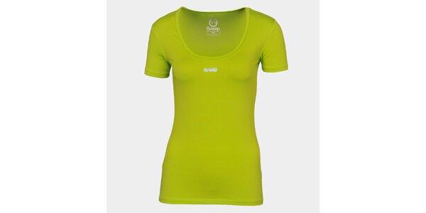 Dámske neónovo zelené tričko so značkou Sweep
