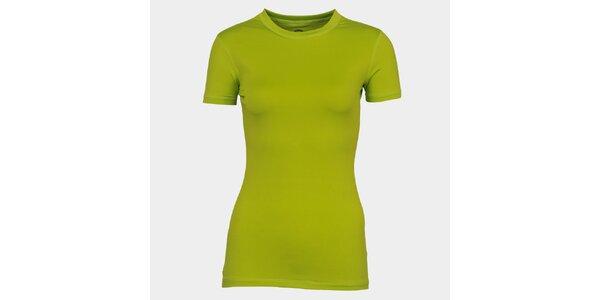 Dámske svetlo zelené tričko s krátkym rukávom Sweep
