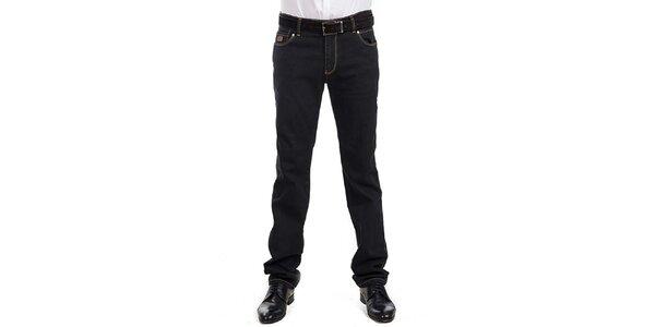 Pánske čierne džínsy RNT23