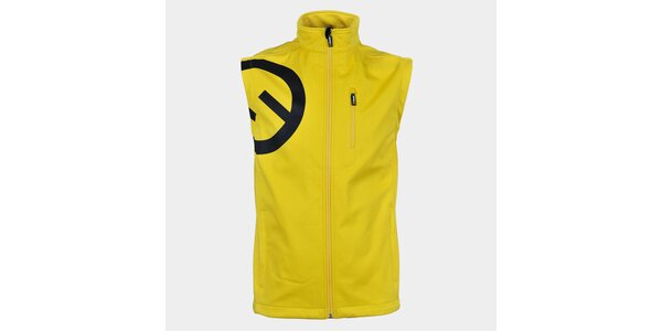 Pánska žltá softshellová vesta Sweep