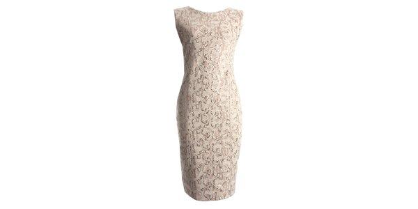 Dámske béžové šaty s flitrami CeMe London
