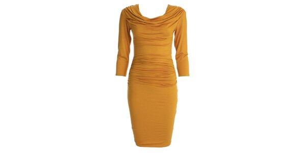 Dámske šafránovo žlté šaty s vodou CeMe London