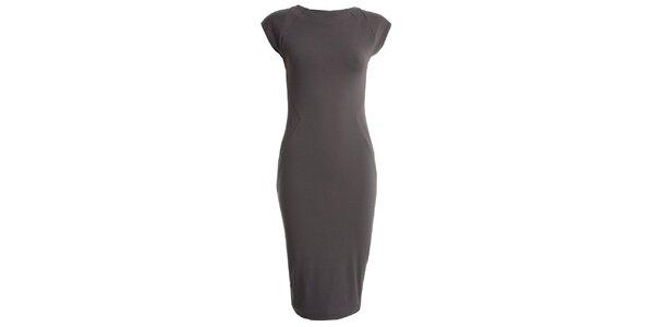 Dámske šedé šaty s krátkym rukávom CeMe London