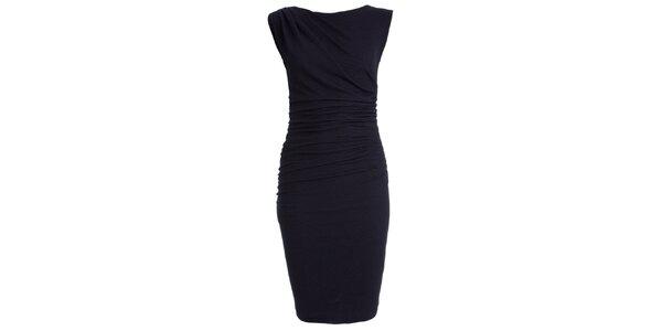 Dámske tmavo modré úpletové šaty CeMe London