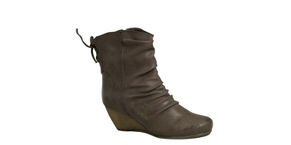 Dámske hnedé topánky na kline London Rebel