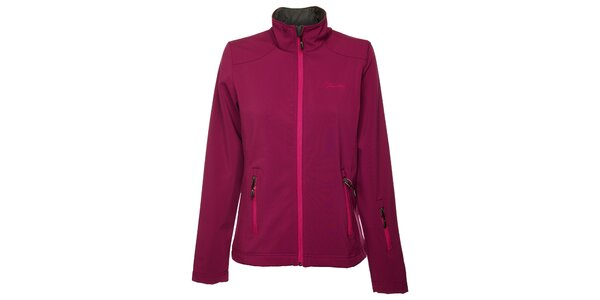 Dámska tmavo ružová softshellová bunda Fundango
