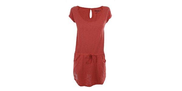 Dámske červenooranžové šaty Fundango