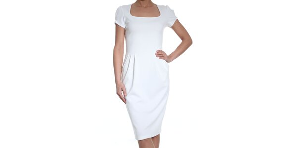 Dámske biele šaty SforStyle
