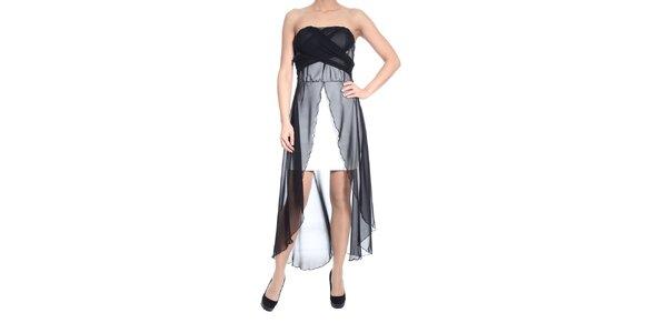 Dámske krémové šaty so závojom SforStyle
