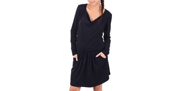 Dámske čierne športové šaty s lebkou SforStyle