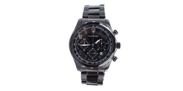 Pánske hodinky v čiernej farbe Yves Bertelin