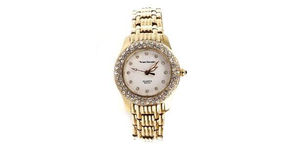 Dámske oceľové hodinky v zlatej farbe Yves Bertelin